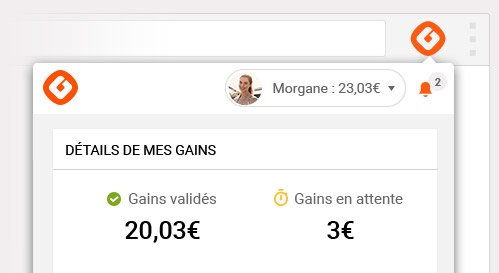 Mes gains