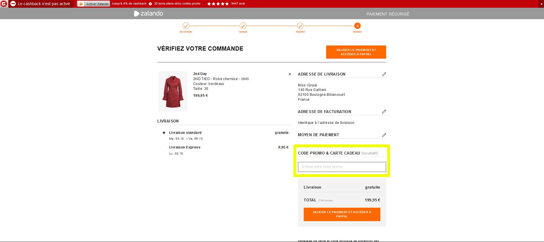 2020] Code promo zalando novembre belgique (Risqué ?)